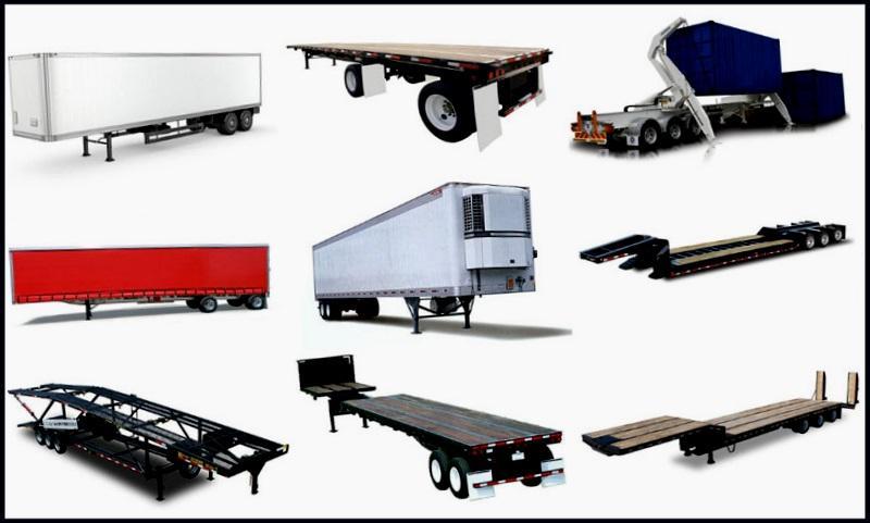 Типы и виды грузовых автомобилей, полуприцепов, прицепов