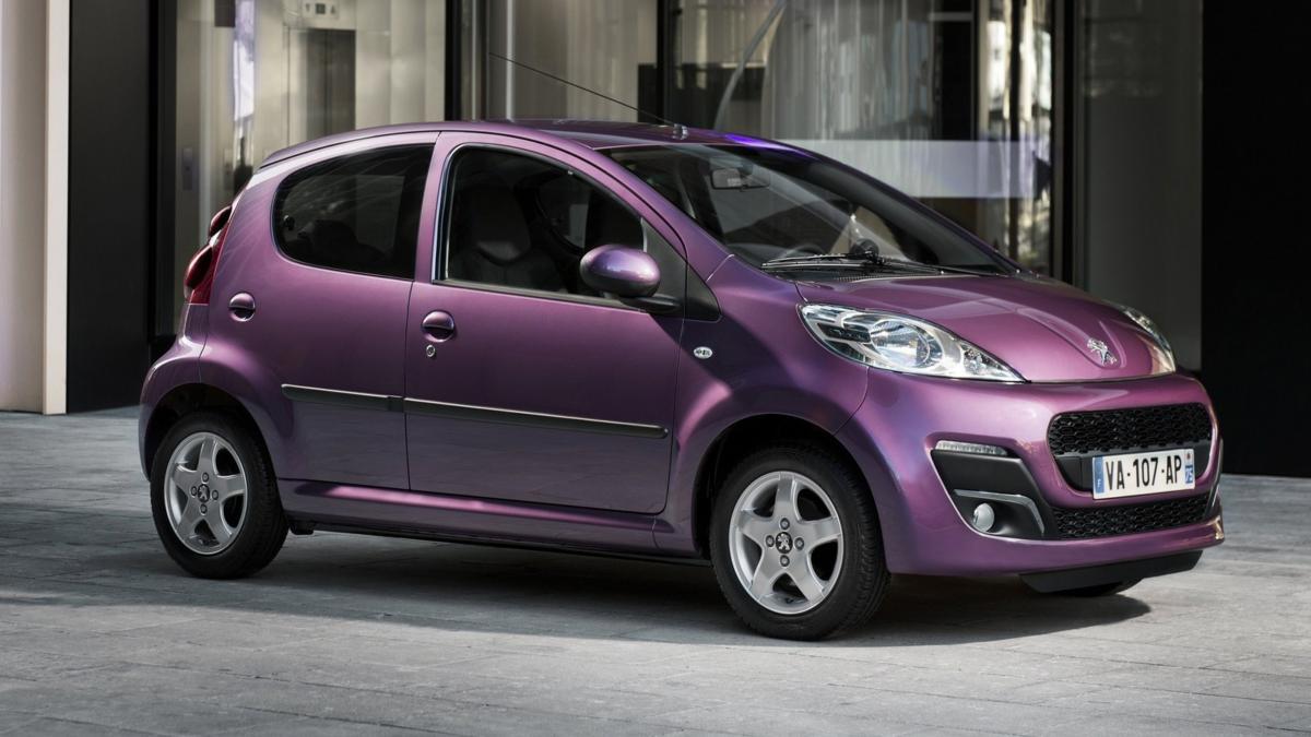 Фиолетовый Peugeot 107 на АКПП для женщин